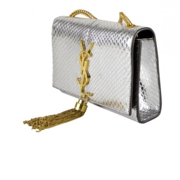 62d2874df44 Bags   Ysl Python Small Clutch Excellent Condition   Poshmark